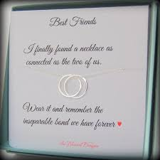 best friend gift friendship necklace connected necklace f gift graduation gift connecting circles necklace birthday gift best friend