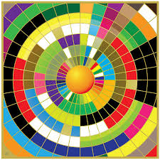abstract painting color wheel by gary grayson