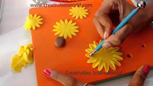 Sugar Paste Cake Decorating Sunflower Fondant Flower Cake Decoration Youtube
