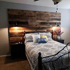 barn wood walls bedroom