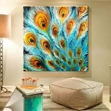 peacock wall art painting 7