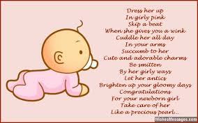 Welcoming Baby Girl Congratulations For Baby Girl Poems For Newborn Baby Girl