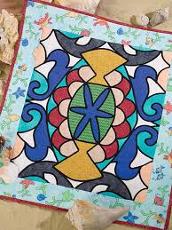 Stained Glass Quilt Pattern Gorgeous Wall Quilt Downloads Undersea Stained Glass Quilt Pattern