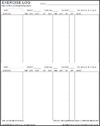 Training Schedule Template Excel Free Plan Workout Log Templates