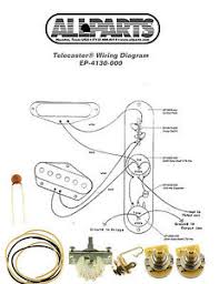wiring kit fender® telecaster tele complete schematic diagram image is loading wiring kit fender telecaster tele complete schematic