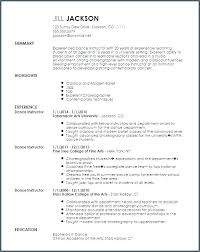 Dance Instructor Resume New Indian Dance Teacher Resume Instructor Template Format Dancer