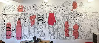 office wall murals. wall murals u0026 live art by matt johnstone via behance office