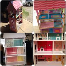 Kitchen Dollhouse Furniture Diy Garage Sale Kidkraft Wooden Dollhouse Makeover Dollhouse