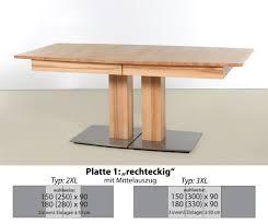 Säulentisch Alton XL rechteckig Ausziehtisch Esstisch Holztisch ...