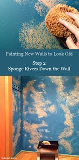 sponge painting walls ideas how to paint new walls look old nomadic decorator dream home ideas sponge painting walls