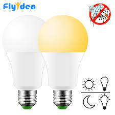 10 W 15 W Gün Işığı Sensörü LED Ampul Lamba 220/110 V Şafak Ev ışık