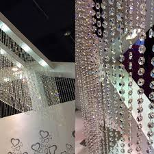 com clear acrylic crystal beads strand window door wedding garland curtain home kitchen