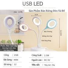 Đèn học để bàn chống cận USB Kiêm Đèn Ngủ Siêu Bền, Tiện Lợi, Nhỏ Gọn - Đèn  bàn Tiết Kiệm Điện chính hãng 33,000đ