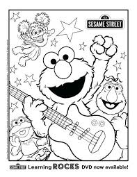 Sesame Street Characters Coloring Pages Sesame Street Printable