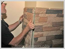 faux stone wall panels easier then drywall mdb