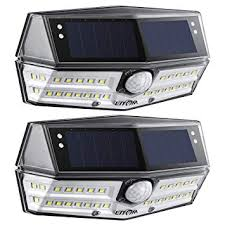 <b>LITOM 30</b> LED Solar Lights Outdoor with 270°Wide Angle IP67 ...