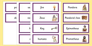 box ancient greek myth word cards greek mythology pandoras box ancient greek myth word cards greek mythology