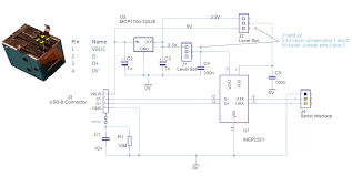 building a usb uart serial adapter element14 single board usb serial schematic png