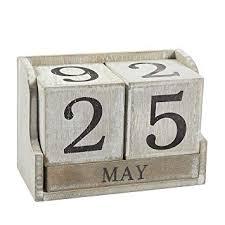 Office Calender Calendar Block Wooden Perpetual Desk Calendar Home And Office Decor 5 3 X 3 7 X 2 6 Inches