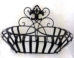 wrought iron style wall mounted planter