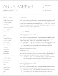 Modern Looking Font For Resume 20 Free And Premium Word Resume Templates Download