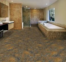 tile allure vinyl plank flooring matched with white wall plus bath up and shower space for bathroom decor ideas