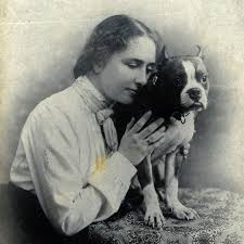 helen keller a life dogs school for the blind helen keller pressing her face against the side of small boston bull terrier d phiz