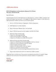 Uscis Cover Letter Sample Sample Professional Letter Formats