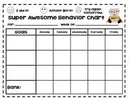 Behavior Charts For Oppositional Defiant Disorder Behaviour Charts Worksheets Teaching Resources Tpt