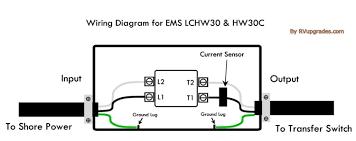 progressive industries ems hw30c hardwired 30 amp rv surge protector ems wiring diagram progressive industries ems hw30c hardwired 30 amp rv surge protector w remote display