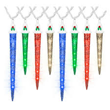 Gemmy Icicle Lights Gemmy Lightshow 8 Shooting Star Multicolor Led Christmas Icicle Lights 116708