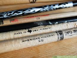 Drumstick Weight Chart How To Choose Drumsticks 7 Steps With Pictures Wikihow