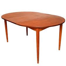danish modern teak round oval dining table