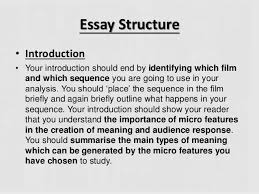 analysis essay introduction Columbia University School of the Arts