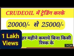 Crude Oil Jackpot Trading Strategy Hindi Mcx Crudeoil