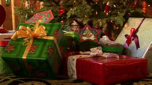 Image result for wrapped presents under christmas tree