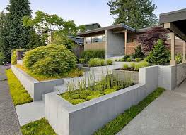 Landscaping And Outdoor Building , Modern House Front Yard Landscaping  Ideas : Modern House Front Yard