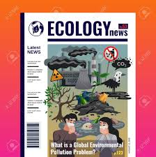 Magazines Cover Design Ecology News Magazine Cover Design With Global Environmental