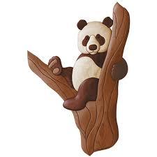 Intarsia Patterns Cool Beginner Panda Intarsia Woodworking Pattern Intarsia