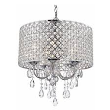 drum shade chandelier with crystals lightupmyparty