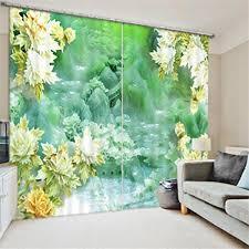Gfywz 3d Vorhänge Upscale Polyester Pflanzenlandschaft