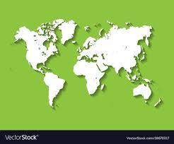 World Map Flat Design White Map Of World Modern Flat Design With