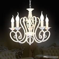 wrought iron modern pendant chandelier vintage chandelier ceiling candle lights lighting fixtures iron black white home lighting chandeliers for
