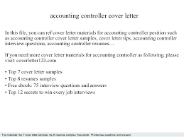 Controller Resume Samples Accounting Controller Accounting ...
