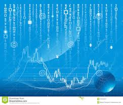 Vector Background With Forex Chart Stock Vector