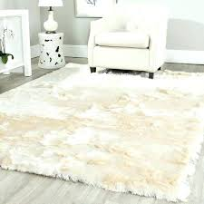 fluffy rugs for bedroom white