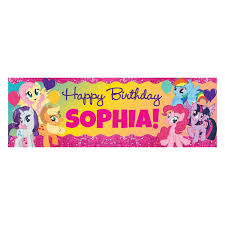 happy birthday banners personalized my little pony sparkleriffic birthday banner personalized birthday