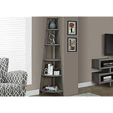corner furniture. Monarch Specialties I 2497, Corner Bookcase, Dark Taupe Reclaimed-Look, 72\ Furniture N