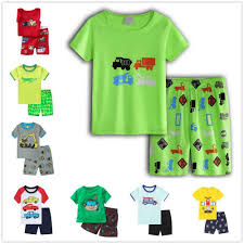 Excavator <b>Children Pajamas Boy Clothes</b> Suits 2019 Summer Short ...