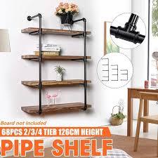 book shelf industrial wall mounted iron